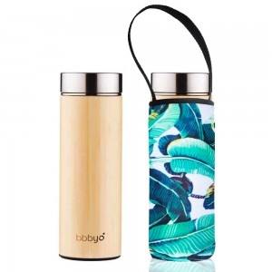 BBBYO Bamboo & Stainless Steel Tea Flask